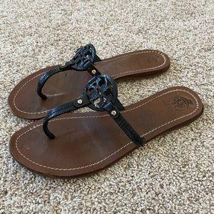 Womens Tory burch black mini miller sandals 7.5